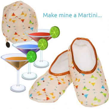 Snoozies Travel Slippers with Zip Pouch  Peach Martini - 15% Off TODAYS SPECIAL